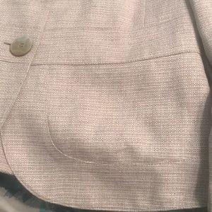 Calvin Klein Jackets & Coats - Calvin Klein taupe and white tweed spring blazer